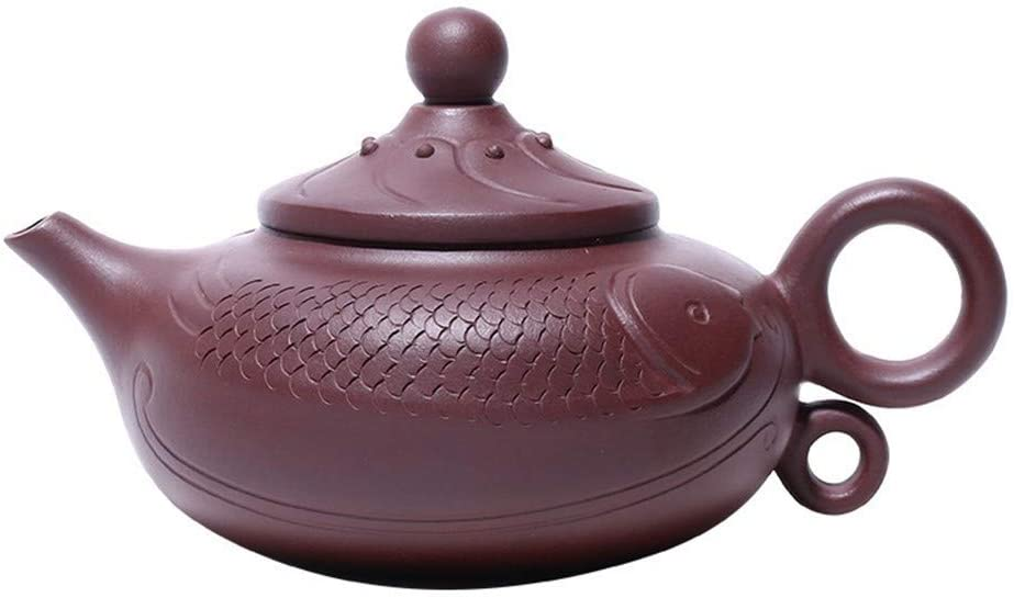 SHENLIJUAN Ore purple clay teapot full of old handmade teapot annual surplus teapot tea (Color : Old purple mud)