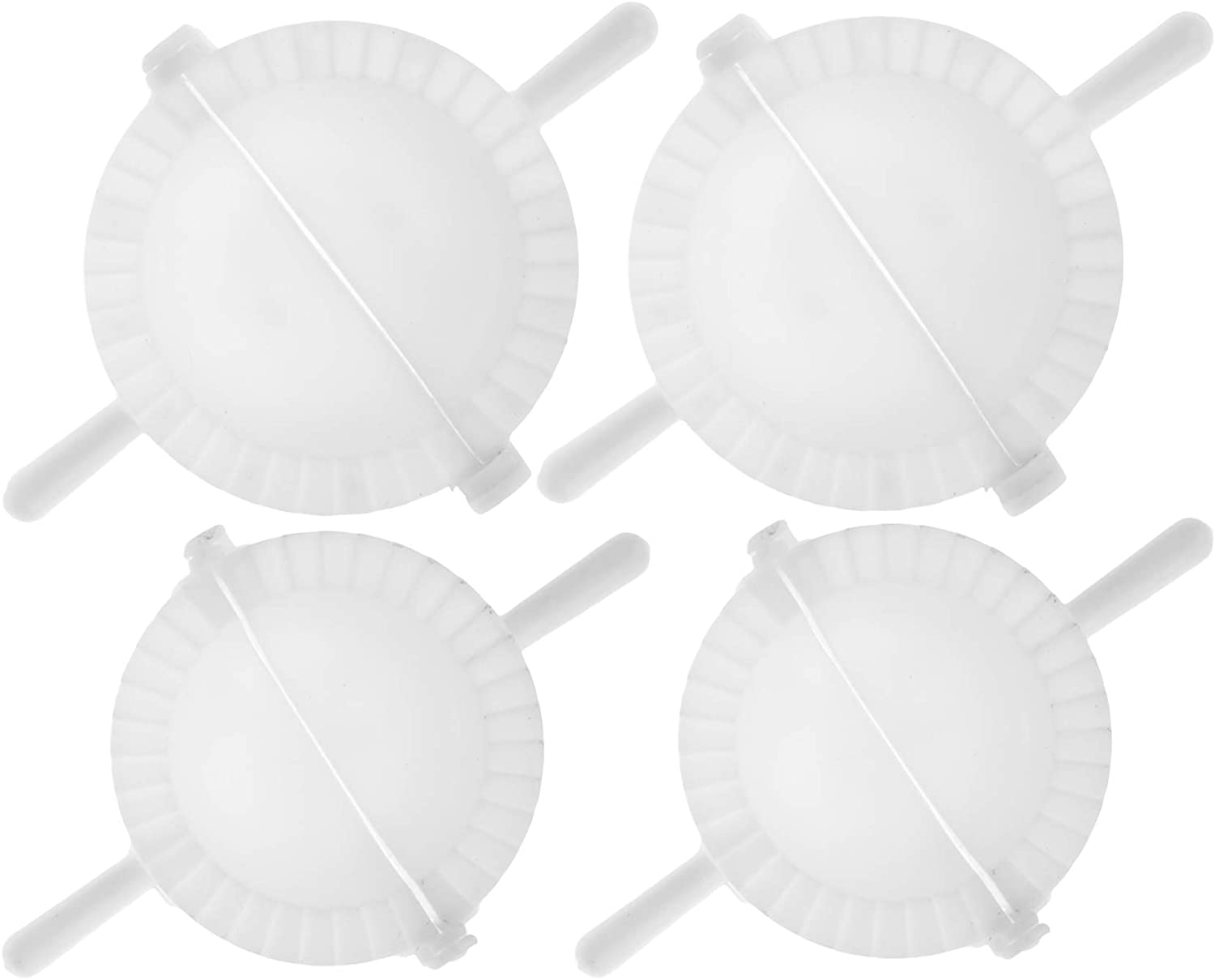 Easy Large Dumpling Cutter and Press - Pack of 4 - Big Plastic Maker Mini Ravioli and Dumplings Mold