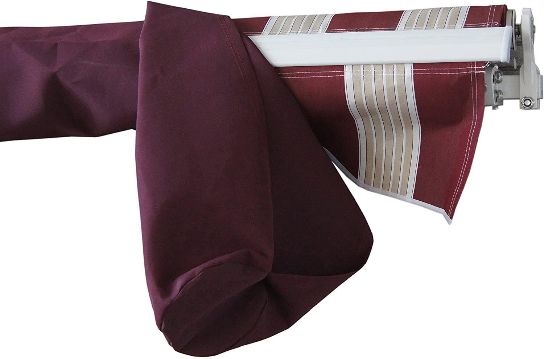 ALEKO AWPSC16X10BD37 Protective Awning Cover Rain Canopy Storage Bag 16 x 10 Feet Burgundy