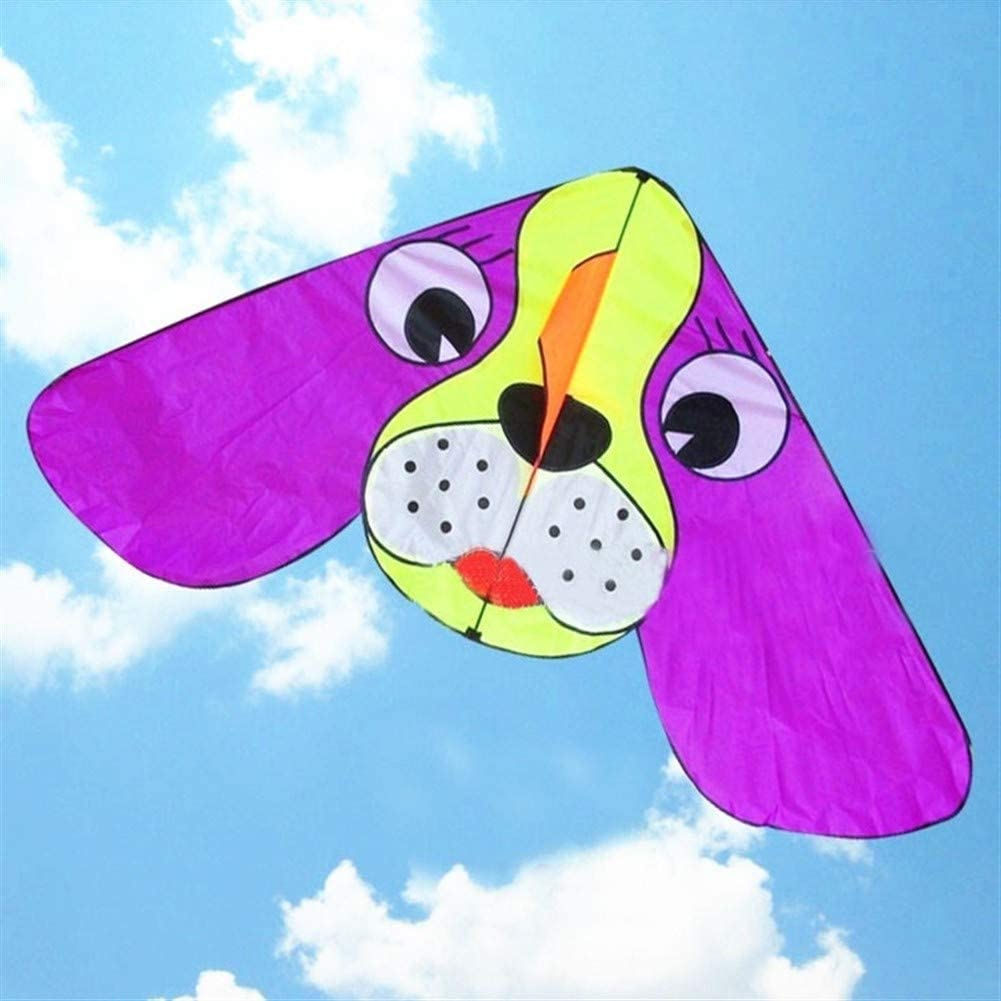 JUELI The New Kite, Kids Kite Kites for Kids Easy to Fly with Outdoor Sports 10pcs/lot Large Ear Dog Kite Anti-Gale (Color : Dog)