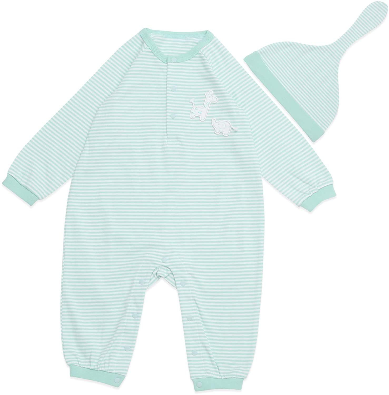Vandis Organic BONI Mint Baby Romper Jumpsuit, 100% Organic Cotton, One-Piece Coverall