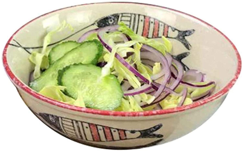 ZODSFG Donburihachi Tableware, Pottery Ramen Bowl Rice Bowl Salad Bowl Soup Bowl Bowl Bowl Home Restaurant Crockery Bowl (Size 17 6 cm) (Size, 22 8CM) 19 7CM STHMG (Color : 176CM)