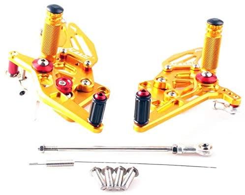 Frames & Fittings CNC Aluminum Adjustable Rearset Foot Pegs for Kawasaki Ninja 250 2008-2012 2009 2010 2011 Gold