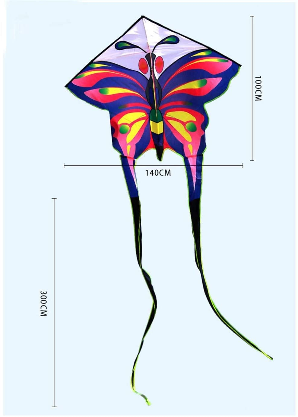 JELO Premium Kite, Kids Kite Fun Kites for Kids Easy to Fly with Outdoor Sports Kite Perfect Childhood Mate (Color : Large Butterfly Kite)