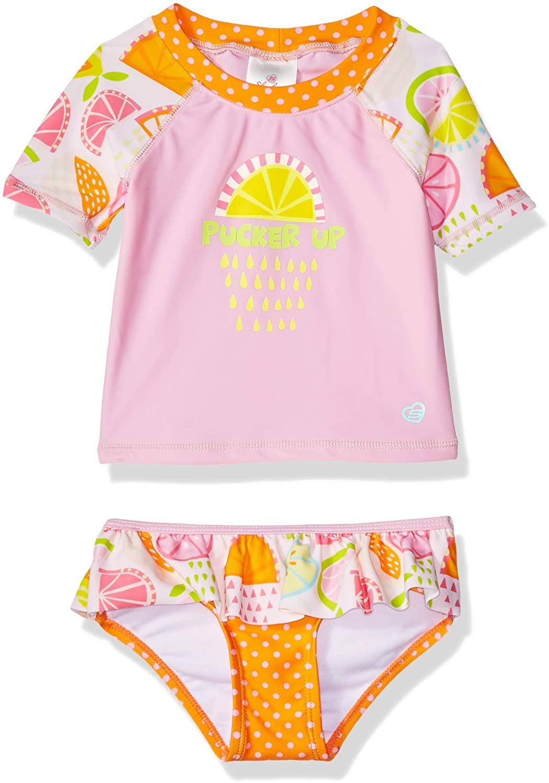 Skechers Girls Baby Swim Suit Bathingsuit Set with Rashguard