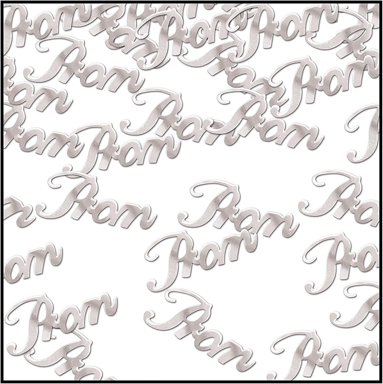Beistle Prom Confetti, 0.5 oz, Silver