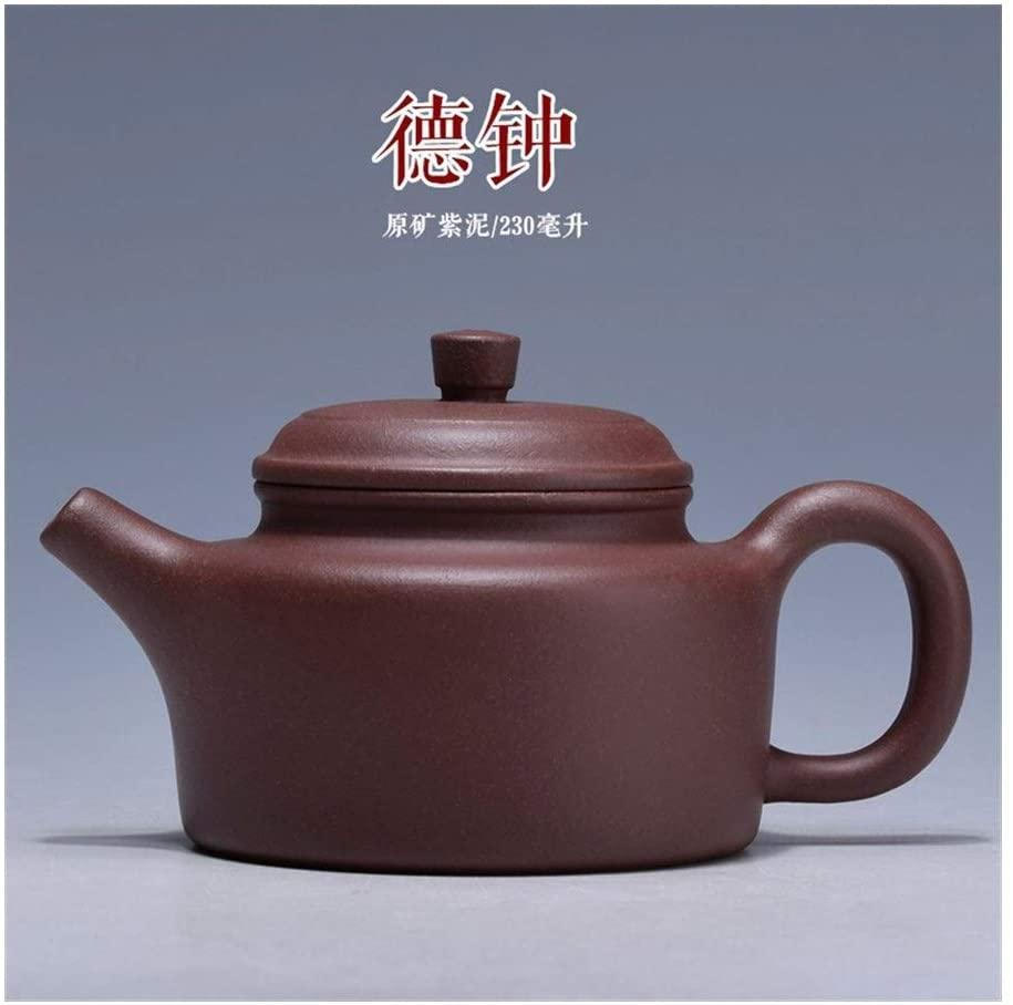 QinMei Zhou purple clay teapot ore hand-German clock maker teapot (Color : Red)