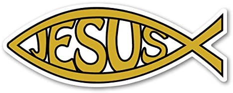 Gold Jesus Fish Magnet