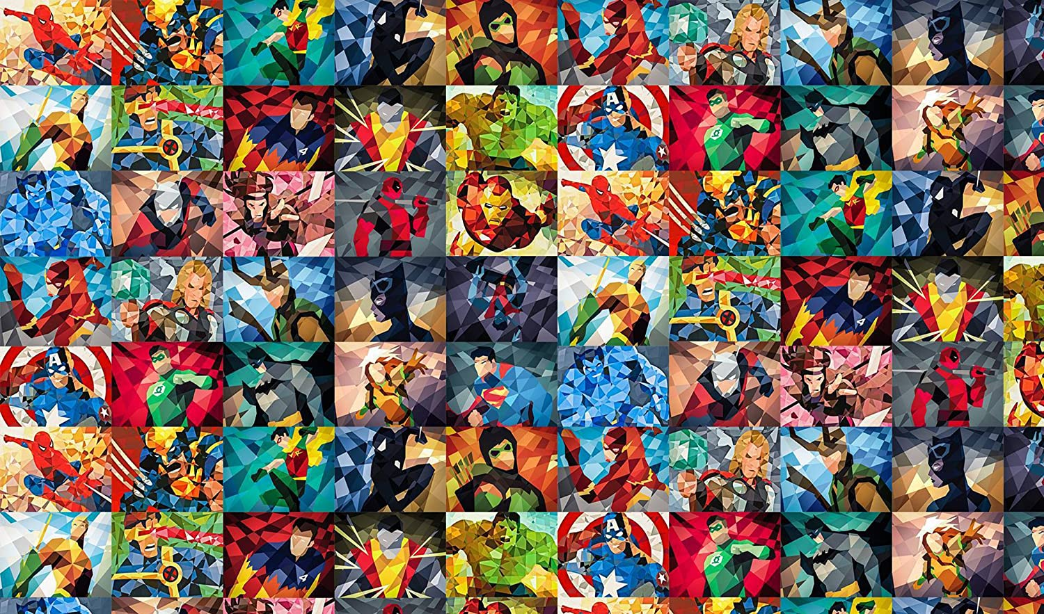 HiddenSupplies.com Marvel Collage Prism Playmat + Free RFG Standard Sized Sleeves 75 Count