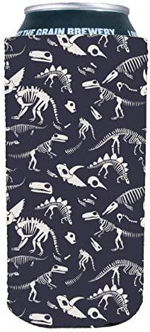 Dinosaur Bones Pattern 16 oz. Can Coolie (1)