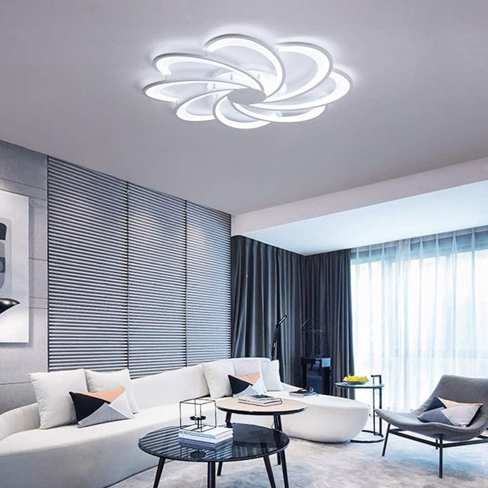 BOSSLV Led Ceiling Lamp Simple Modern Led Lamp Parlor Bedchamber Ceiling Lamp, 5 Head 53Cm, Cool White