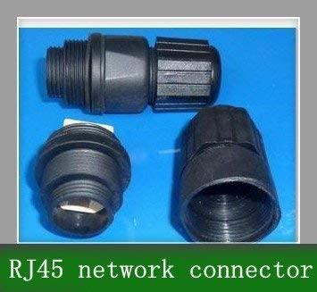 Davitu Electrical Equipments Supplies - 25M Waterproof RJ45 Network Connector LAN Socket x10