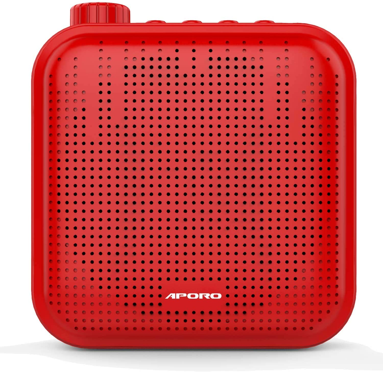 TiKeDa Mini Voice Amplifier With Wired Microphone Headset and Waistband,Supports MP3 Format Audio for Teachers, Singing, Coaches,Training,Presentation,Tour Guide,Portable Rechargeable (Red)