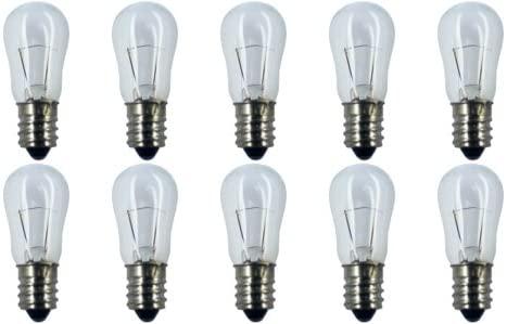 CEC Industries #6S6 6V Bulbs, 6 V, 6 W, E12 Base, S-6 shape (Box of 10)