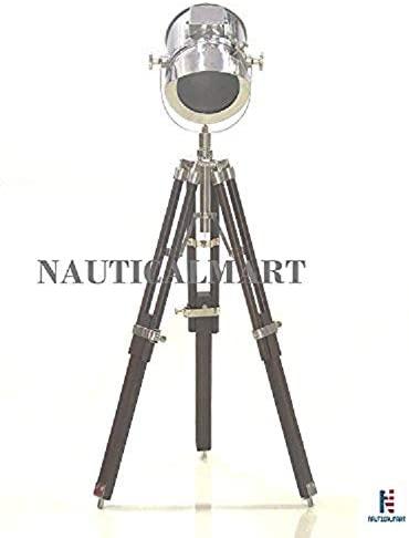 NauticalMart Vintage Decorative Marine Nautical Wooden Tripod Desk Lamp