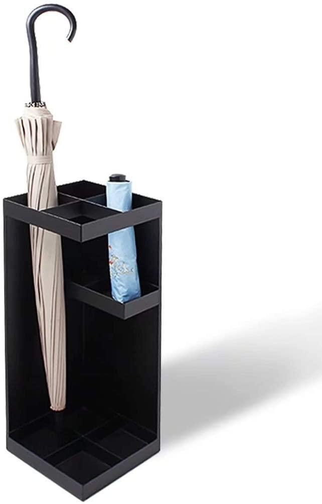 Happy Family GYR Modern Creative Square Metal Umbrella Stand with Storage Rack, no Umbrella cqq