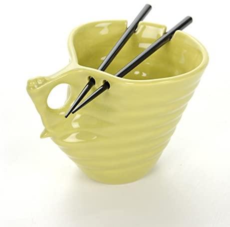 Buddha Bowl Original Udon Noodle Ramen Bowl Ceramic Chopsticks Big Mug (Udon Bowl (22oz), Green Curry)