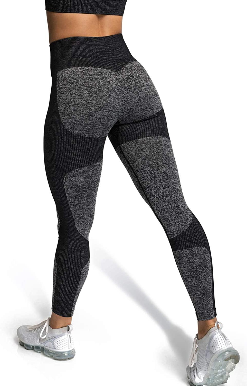 BOLIVO Seamless Leggings for Women,Butt Lifting Gymshark Leggings Workout Leggings Compression Leggings for Women High Waist