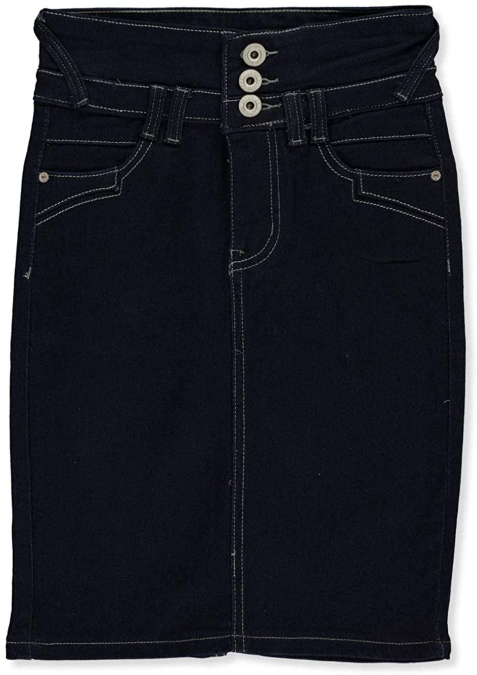 Ko. Ko. Ailis Girls' 3-Button Fly Denim Pencil Skirt