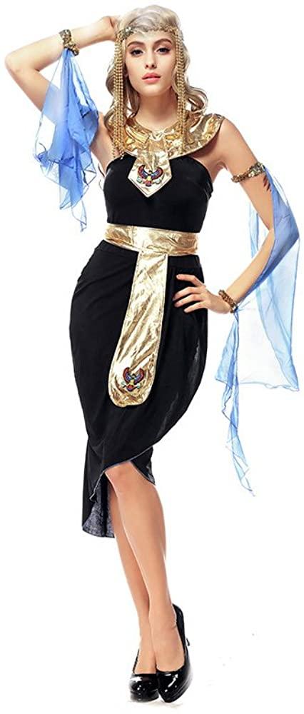PINSE Woman Halloween Egyptian Goddess Costume