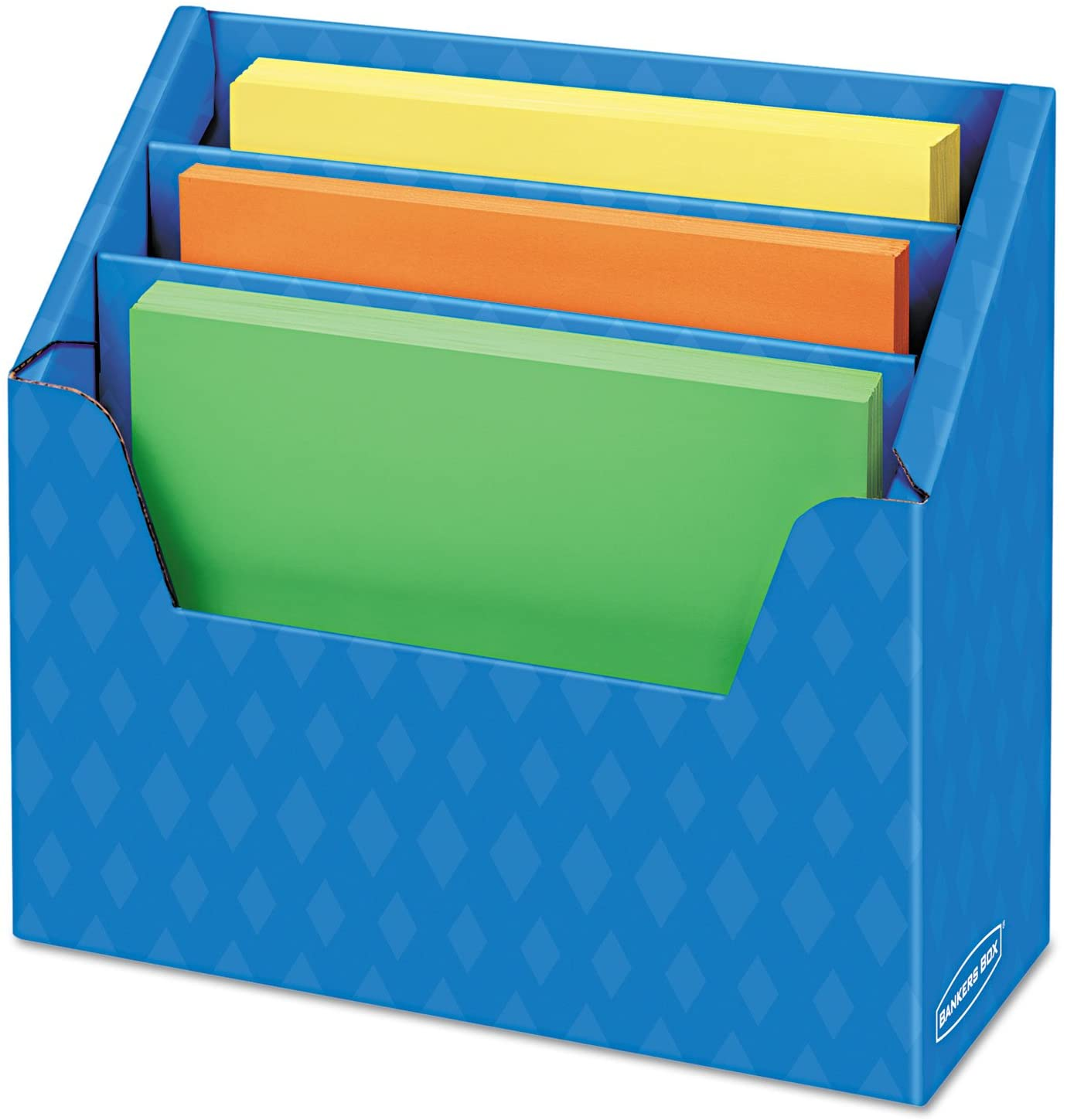 Bankers Box - Folder Holder with Compartment Organizer, 12 1/2 x 9 x 5 5/8, Blue