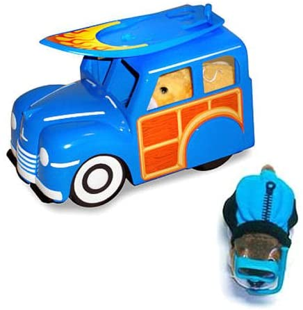 Zhu Zhu Pets Woody Wagon & Surfboard Plus Hamster Outfit Wet Suit With Goggles (Hamster NOT Included) by Cepia
