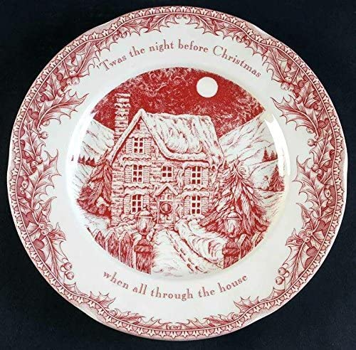 Noble Excellence Twas the Night Before Christmas Dinner Plate, Set of 4