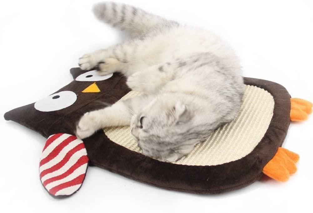 Olpchee Animal Shaped Natural Sisal Cat Scratch Pads Resting Mat Scratcher Board for Cat Kitten