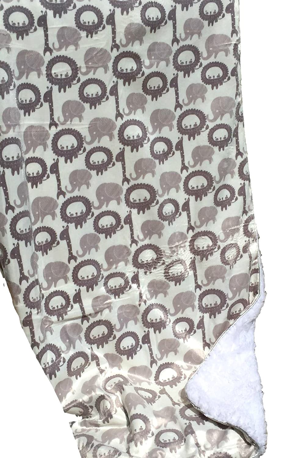 Baby Boy Blankets, Warm and Cozy, Extra Soft Micro Plush Fleece Blanket, Anti-Pilling, Sherpa Backing, Multiple Designs and Themes (Lions & Elephants)