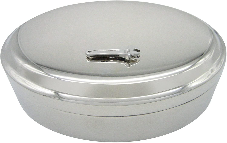 Wrench Tool Pendant Oval Trinket Jewelry Box