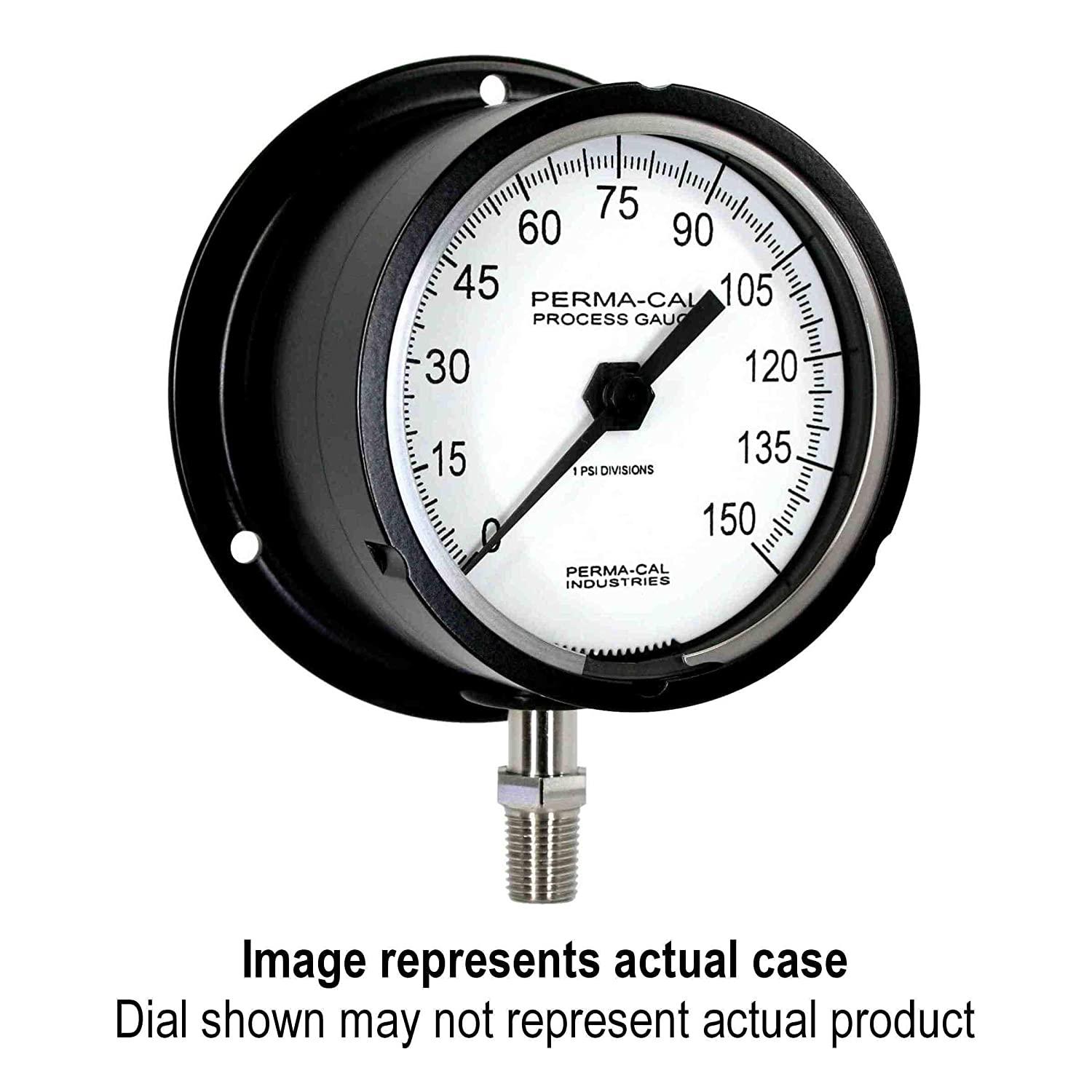 Pressure Gauge, Military Grade, Gearless, Process, 0-15000 psi, 3.5
