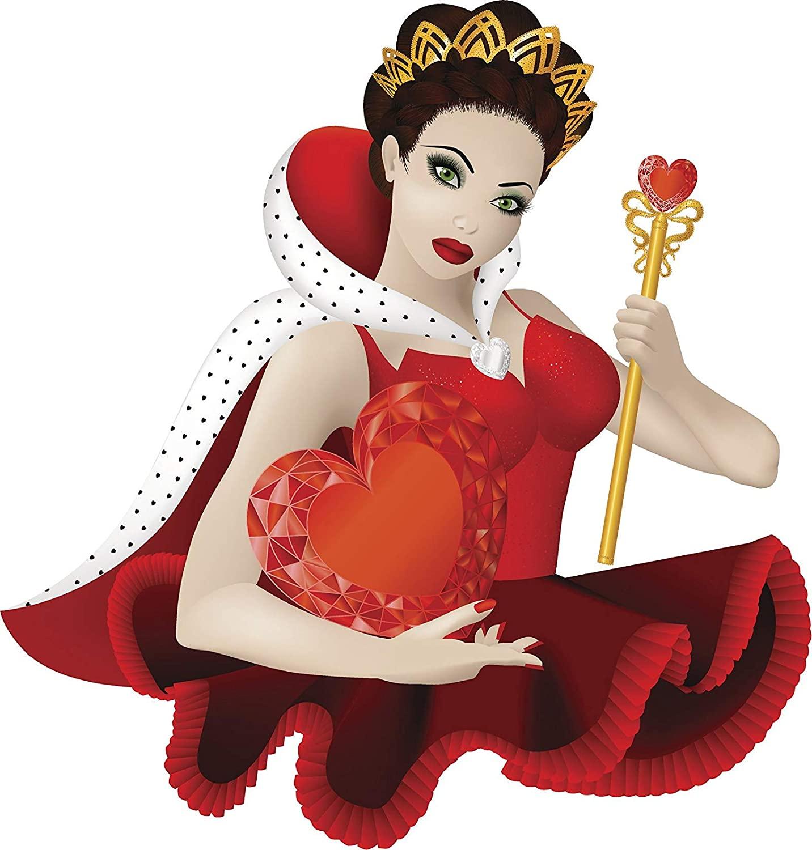 EW Designs Magnet Sexy Red Queen of Hearts Cartoon Princess Magnetic Vinyl Magnet Bumper Sticker (4