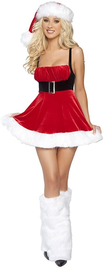 Sexy Stretch Velvet Scrunch Top Holiday Girl Flair Dress