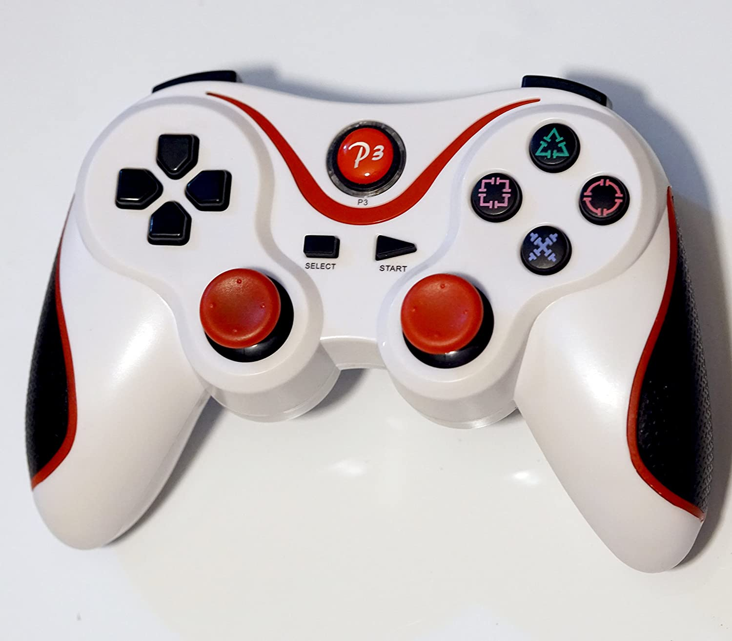 FSC Wireless Remote PS3 Controller Gamepad for use with PlayStation 3 (White&Red)