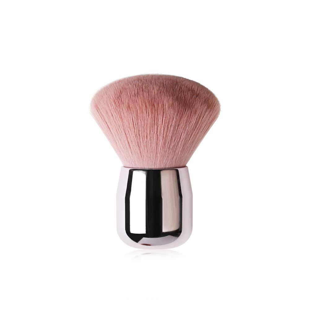 Blush Loose Powder Brush, Plating Handle Soft Comfortable Loose Powder Blush Foundation Makeup Tools