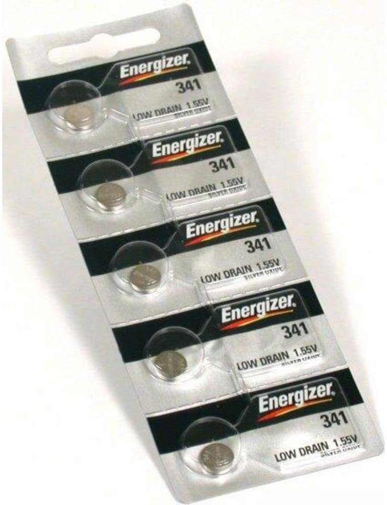 Energizer Watch Battery Button Cell 341 Pack of 5 Batteries