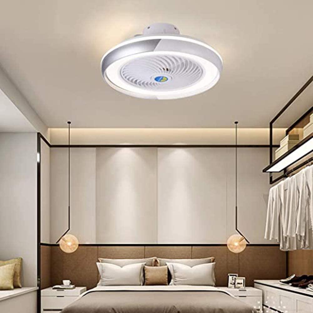 YALTOL Modern LED Fan Ceiling Light Dimmable Ceiling Fan with Lighting and Remote Control Stealth Mute Living Room Bedroom Children's Room Ceiling Light Fan Chandelier Ø50cm, 52W