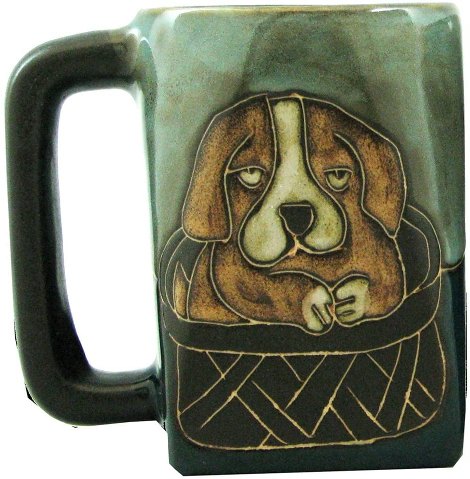 Mara Stoneware Mug - Playful Puppies 12 oz.