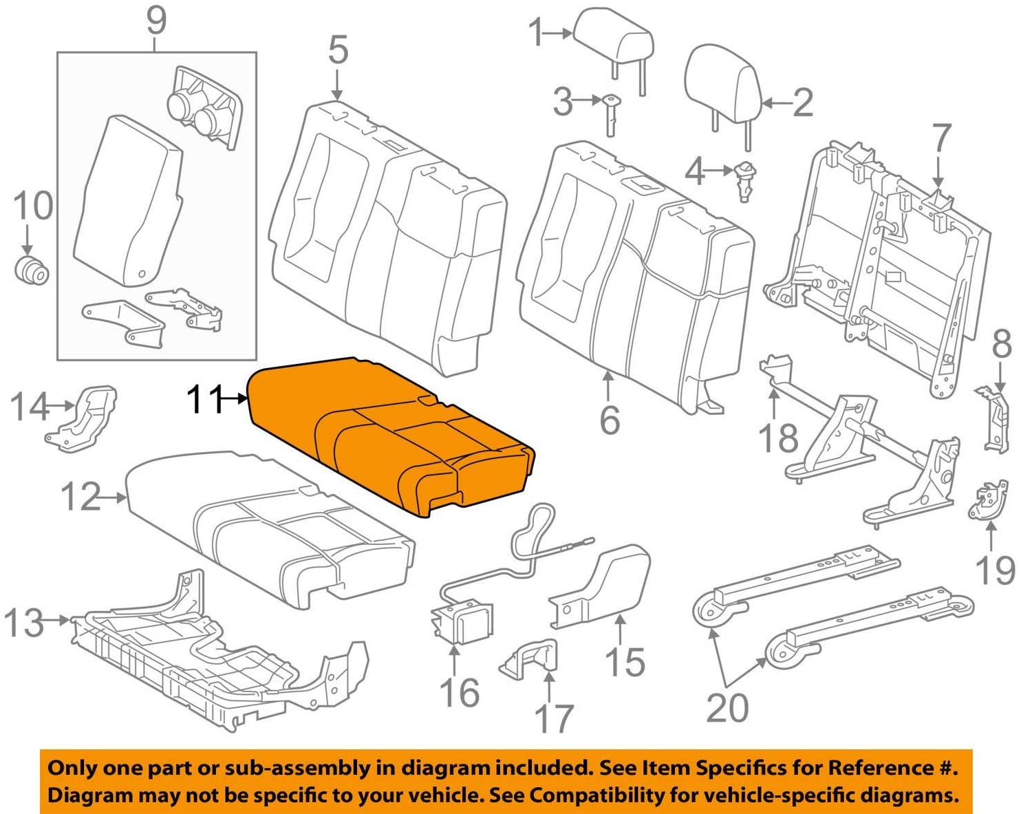 TOYOTA Genuine 71076-0C440-E1 Seat Cushion Cover