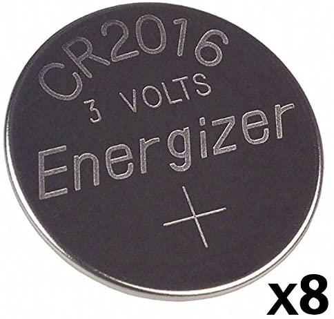 8pcs -- Energizer Cr2016 3v Lithium Coin Cell Battery Dl2016 Ecr2016 CR 2016