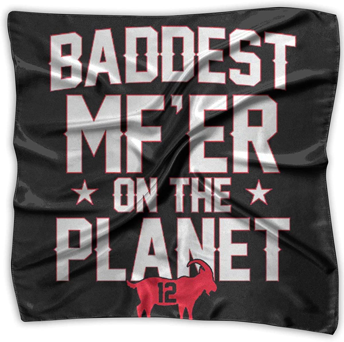 Baddest MFer On The Planet Womens Handkerchief Square Silk Party Handkerchiefs