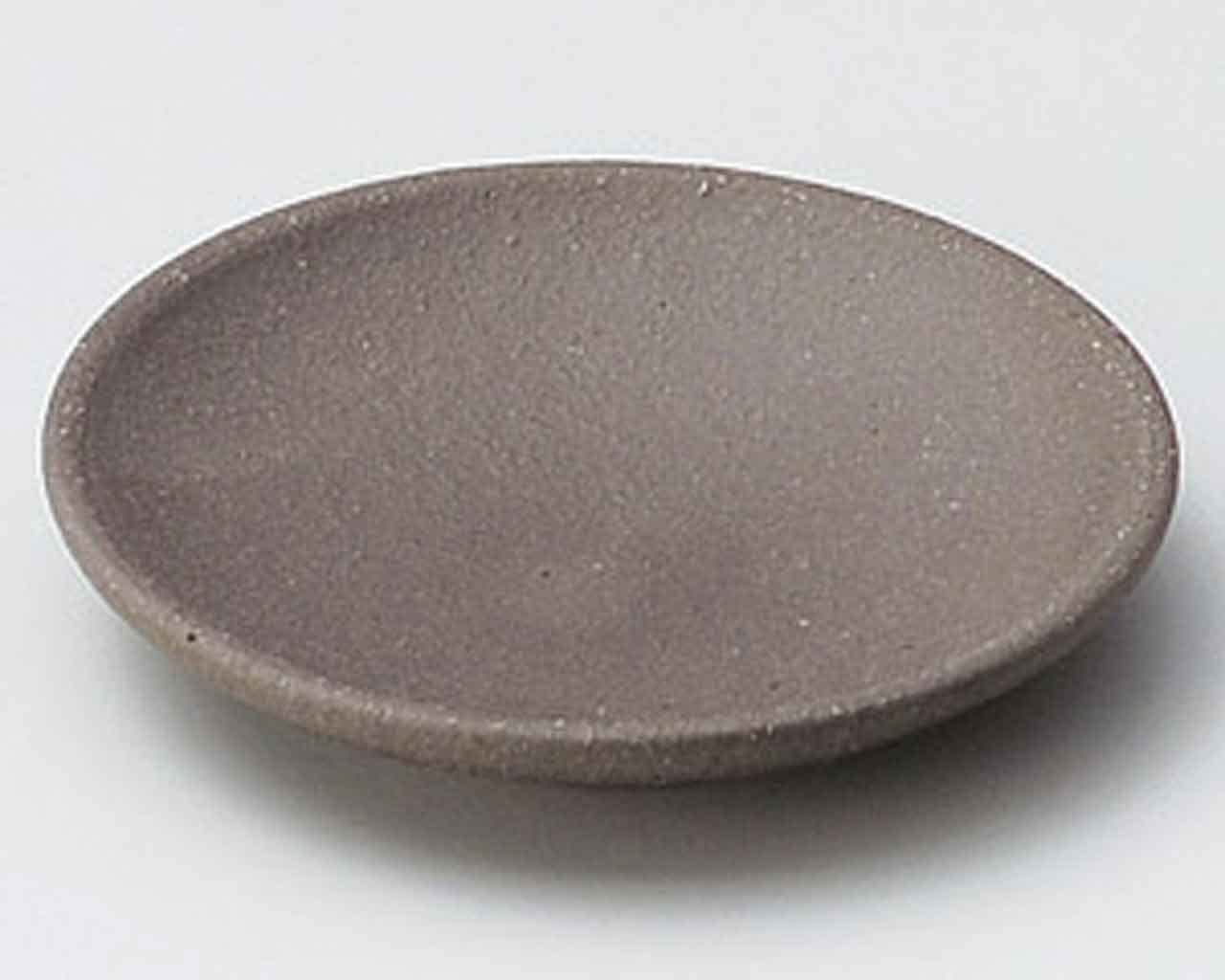 Kokutoh 4.5inch Small Plate Brown Ceramic Made in Japan