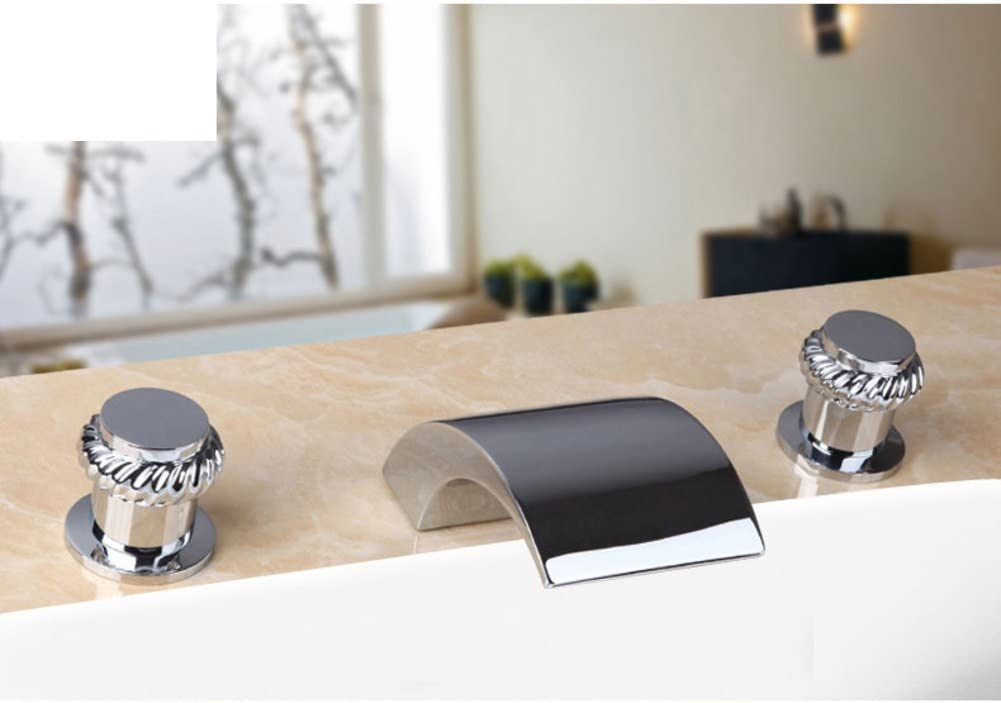 Split-hot and Cold Faucet/Bath tub Faucet Three-Set/Waterfall Wide Water taps-G