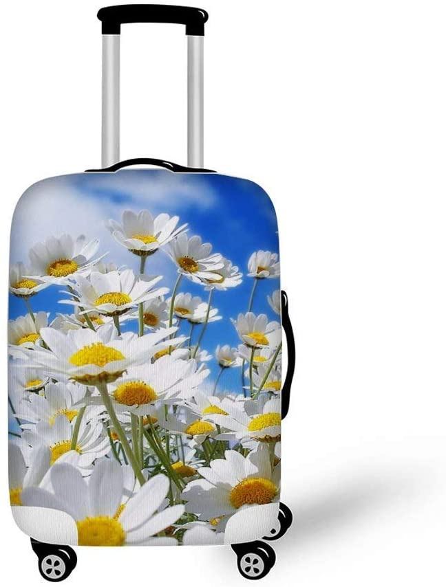 Colorful Flowers Nature Plants Fashionable Baggage Suitcase Protector Travel Luggage Cover Anti-Scratch