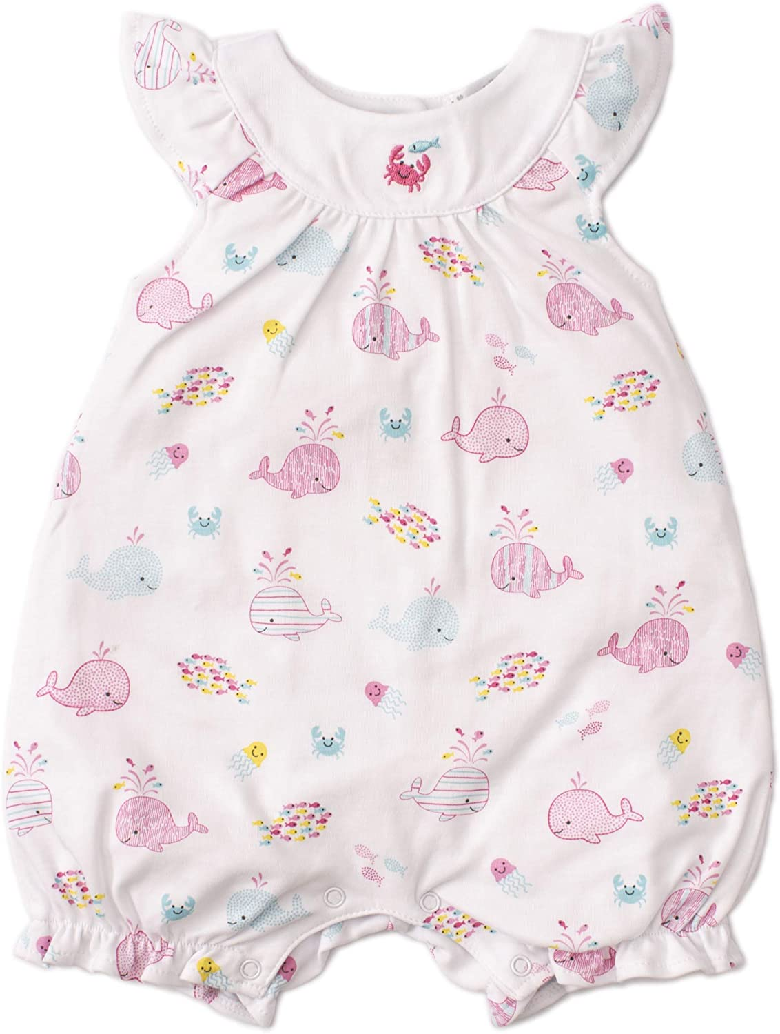 Kissy Kissy Baby-Girls Infant Whale of A Time Print Short Playsuit