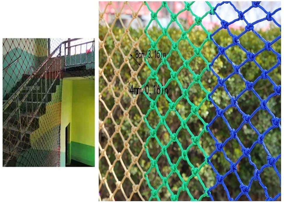PLLP Safety Nets,Childrens Balcony Fence Net Stair Protection Net Kindergarten Safety Net Anti-Fall Net Cat Net Decoration Net Indoor Outdoor Multi-Purpose Color,1x6m
