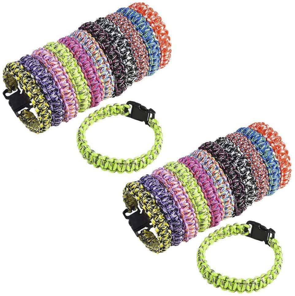 Shop Zoombie 24 Pack Paracord Bracelet Woven 8.5