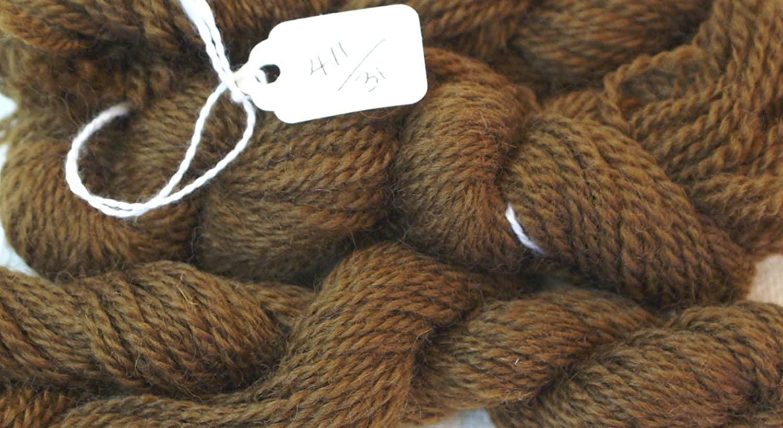 Paternayan Needlepoint 3-ply Wool Yarn-Color-411-EARTH BROWN-HANK
