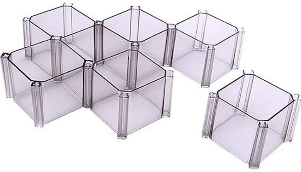 OUDIS CORPORATION 6pcs / Set DIY Drawer Divider Honeycomb Splint Box with Cell Storage Split Drawer Organizer Panty Sorting Sock Box