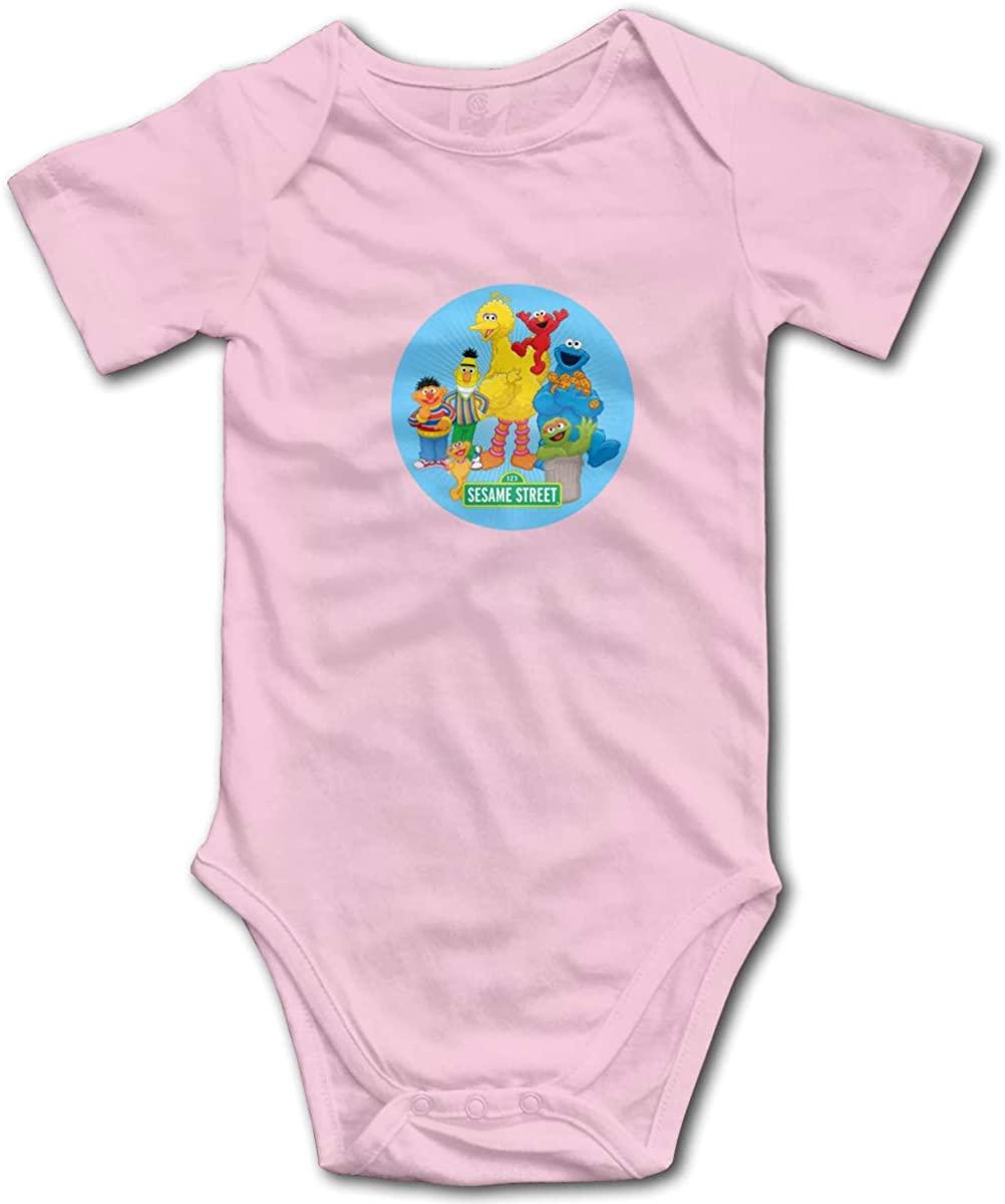 Elmo Face Small Child Unisex Cotton Baby Underwear Short Sleeve